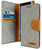 Goospery Canvas Wallet for Samsung Galaxy S9 Plus Case (2018) Denim Stand Flip Cover (Gray) S9P-CAN-Gry