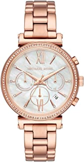 Michael Kors Womens Quartz Watch, Chronograph Display and Stainless Steel Strap MK6576