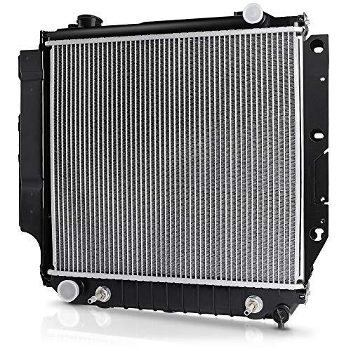 Complete Radiator Compatible with Jeep TJ, for Jeep Wrangler 2.4L 2.5L 4.0L 4.2L V4 V6 DWRD1010