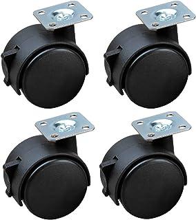 WQF Meubelwiel,Bureaustoelwiel,Draaibare zwenkwiel,Diameter 50mm (2in), Set van vier,Bescherm uw tapijt/hardhout
