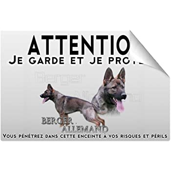 J/' aime mon chien Aimant Réfrigérateur-BERGER ALLEMAND