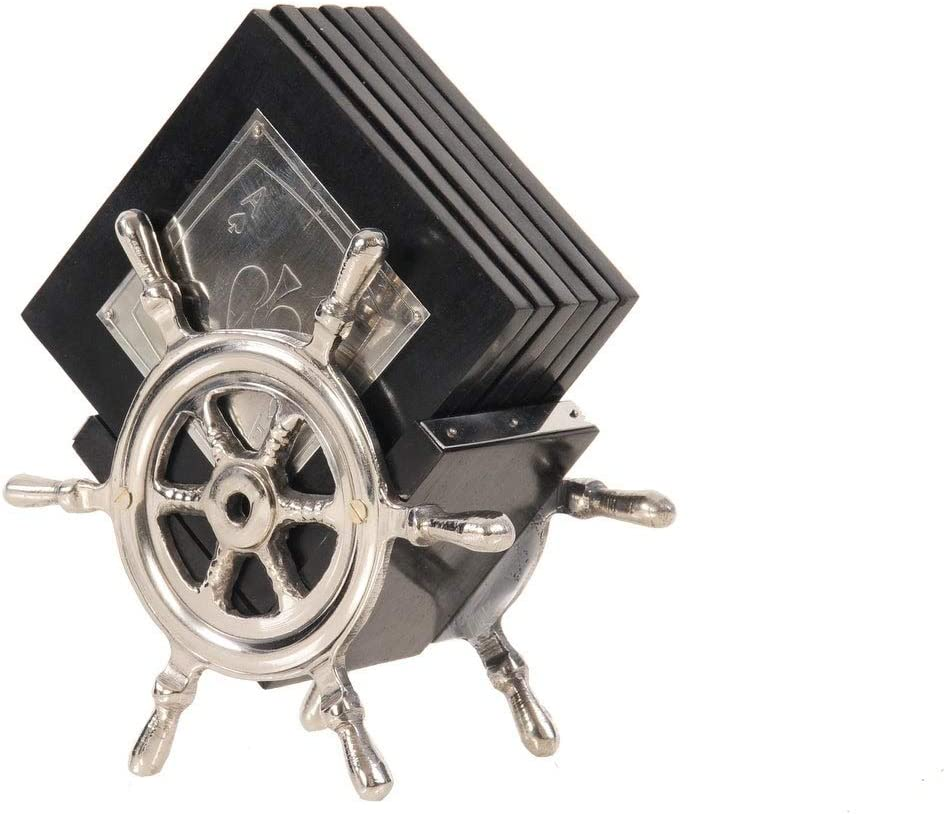 Unknown1 Set of 6 Super intense SALE Playing Card trend rank Wheel Ships Coasters On Stand 12
