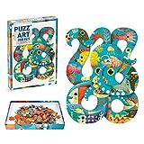 DJECO- Puzzle Art Octopus 350 Piezas, Multicolor (DJ07651)