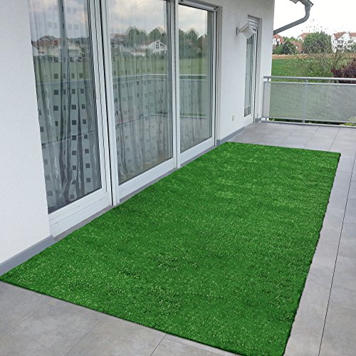 Ottomanson Evergreen Collection Indoor/Outdoor Turf Solid Design Doormat,16'X48'