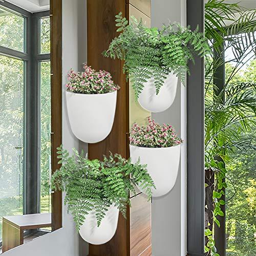 Sungmor - Jardinera Colgante de Esquina de ángulo de 90 ° - Paquete de 4 Piezas y...