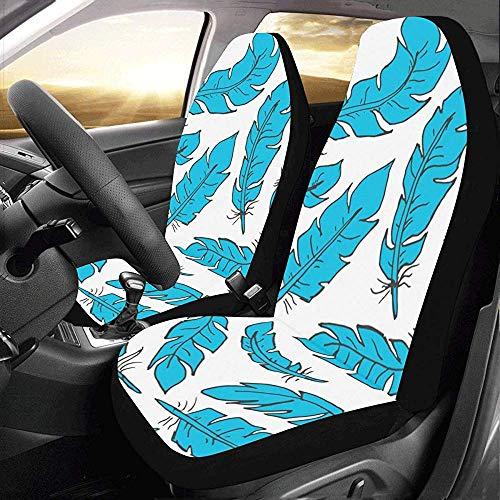 Auto Stoelhoezen Blauwe Veer Stijl Aangepaste Nieuwe Universele Fit Auto Drive Auto Stoelhoezen Beschermer voor SUV Voertuig (Set van 2 Voorzijde)