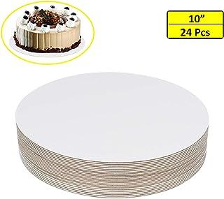 "24 Pcs 10"" Cake Boards(White)- Cardboard Round Cake Circle Base For Cake, Pizza by ZMYBCPACK"