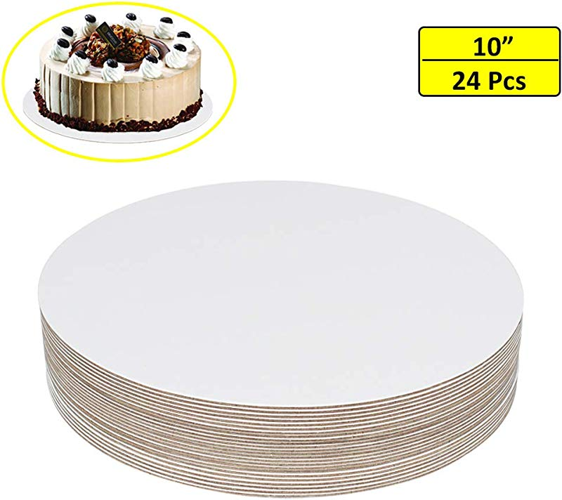 24 Pcs 10 Cake Boards White Cardboard Round Cake Circle Base For Cake Pizza By ZMYBCPACK
