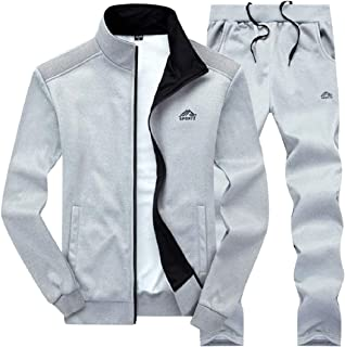 Sodossny-AU Men's Jogger Jackets Outfits Active Running Two-Piece Sets Workout Tracksuits