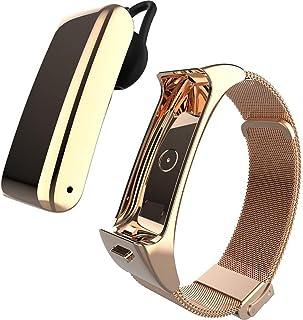 HBBOOI Inteligente Pulsera Deportes Auricular Bluetooth 2-en-1 Escuchar la música El Control de Las pulsaciones podómetro, poligrafía, Calorías, Llamada Bluetooth