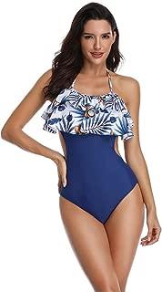 Rolaris Women's Surplice Neckline High Waisted Halter One Piece Monokini Swimsuit for Women Backless V Neck Swimsuit