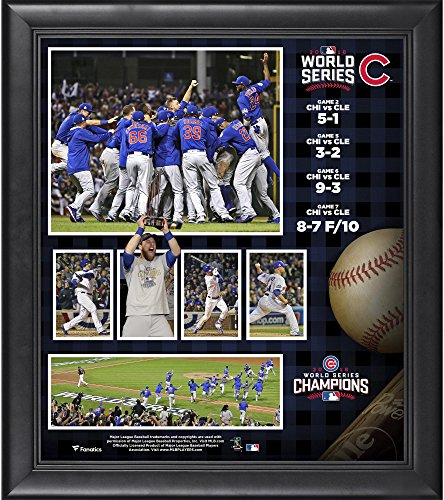 """Chicago Cubs 2016 MLB World Series Champions Framed 15"""" x 17"""" Collage - MLB Player Plaques and Collages"""