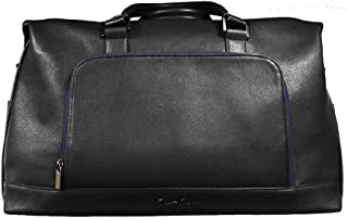 Robert Graham Piro Men's Faux Leather Embossed Convertible Weekender Duffle Bag