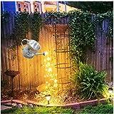 Star Shower Garden Art Light Dekoration,Silber Wire Vine Garten Dekoration Wegeleuchten,Sterne zeigen Led String Light Dekoration Lichter für den Garten Rasen Terrasse Feld Weg