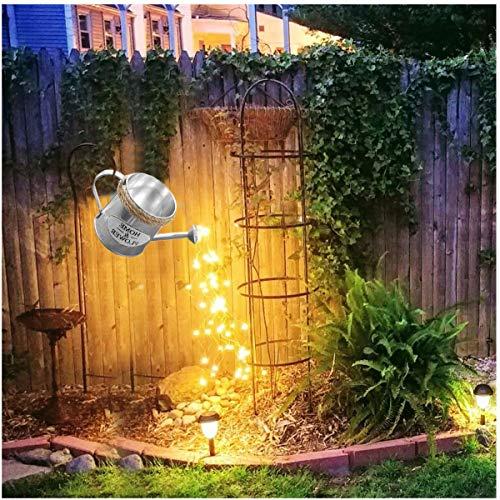 Soolike Star Shower Garden Art Light Dekoration,Silber Wire Vine Garten Dekoration Wegeleuchten,Sterne zeigen Led String Light Dekoration Lichter für den Garten Rasen Terrasse Feld Weg