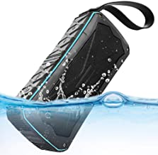 ULBRE Bluetooth Speakers Portable Wireless IP67 Waterproof 20W Enhanced Bass 12-H Playtime BT Speaker Support Hands-Free Calls, TF card, FM, Audio Input, Radio Antenna,Built-in MIC and Power Bank
