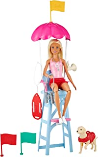 Barbie Lifeguard Playset, Blonde Doll (12-In/30.40-cm),...