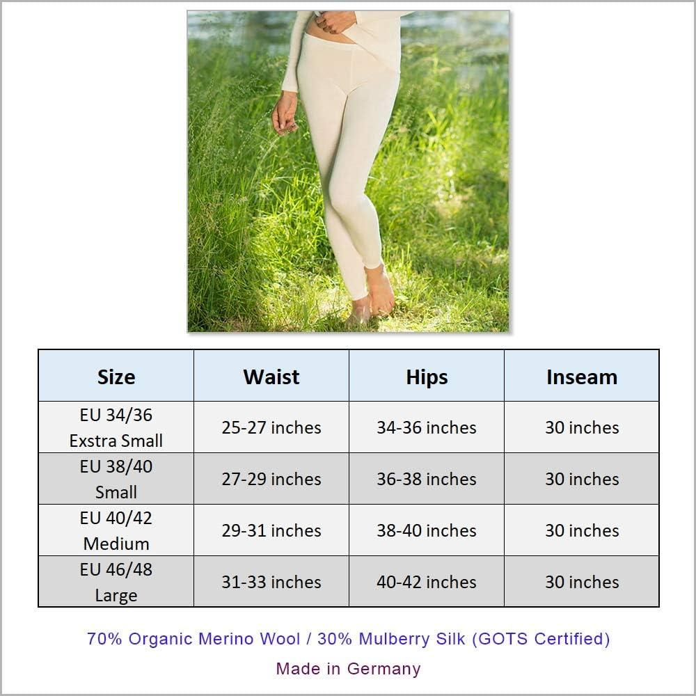 Thermal Underwear Leggings for Women – Merino Wool Base Layer Long Johns Pajama