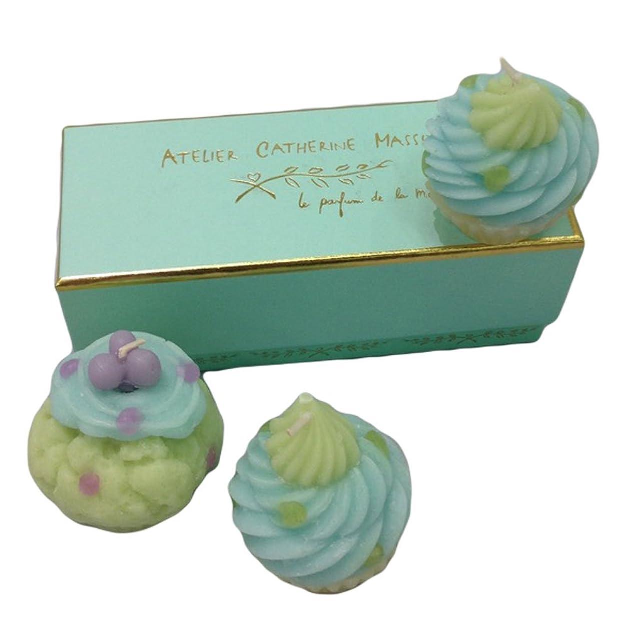 探検プリーツあるカップケーキキャンドル3SET(グリーン)