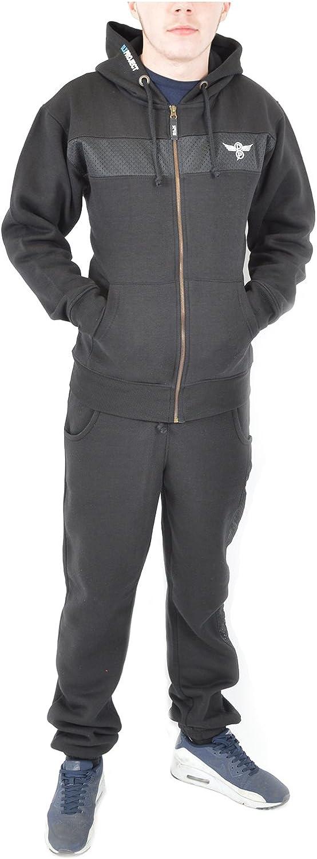 Men/'s Two Piece Fleece Warm Tracksuit Jogging Pant Set