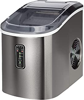 Euhomy Ice Maker Machine Countertop, Makes 26 lbs Ice in 24 hrs-Ice Cubes Ready in 9..