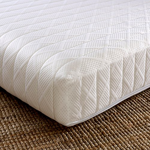 Orthopaedic Reflex Foam Mattress, Happy Beds Flex 1000 Medium Firm Tension Rolled Mattress with Removable Cover - 4ft6 Double (135 x 190 cm)