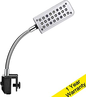 DaToo Aquarium Light Small LED Clip Light for Fish Tank, 1 Yr Warranty