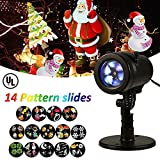 Halloween Lights Projector, LIGHTESS Outdoor Indoor Xmas Decorations Waterproof LED Landscape Spotlight for Xmas Theme Party Store Window and Gard