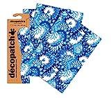 Decopatch - Plantilla de Estarcido, diseño de Pavo Real, Azul/Blanco/Morado