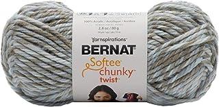 BERNAT 16124040002 Softee Chunky Twist SB Yarn، زجاج البحر