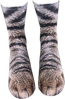 TrifyCore, La impresión en 3D animales Patas divertidos calcetines de algodón Calcetines pies de gato para niños de 1 par unisex