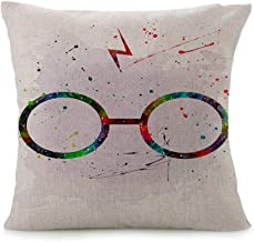 Cayyon Originality Decorative Pillow case Throw Pillow Cover Pillowcase Cotton Linen Cushion Covers for Home/car/bar/Restaurant -Harry Potter Style- Abstract 10 (B)