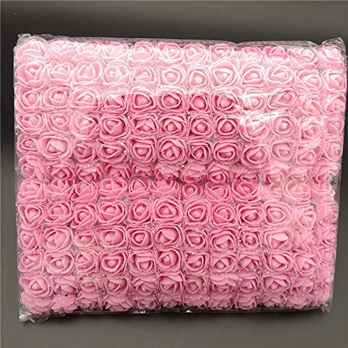 Starall - Confezione da 144 mini bouquet di rose artificiali in schiuma, per decorazioni per matrimoni