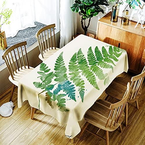 Mantel Impermeable con patrón de Planta Simple de Nueva Personalidad, Mantel de impresión Digital, Mantel Rectangular para el hogar, 140x180cm A