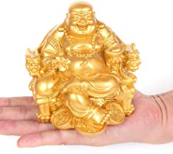 Statue Ornaments Laughing Buddha Statue for Home Decor Modern Resin Buddha Figurine Sculpture for Office Desk Feng Shui De...