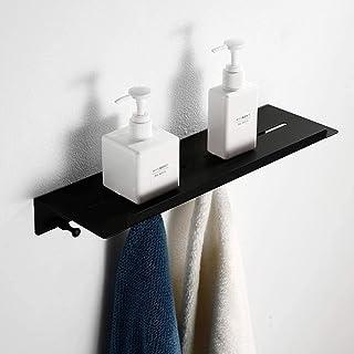 Étagères de salle de bain étagère de salle de bain rectangulaire noire antirouille 304 en acier inoxydable caddy de douche...