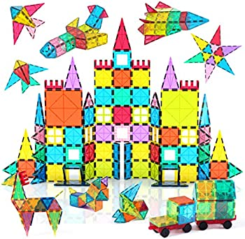 108-Piece Jasonwell Magnetic Tile Building Blocks Set