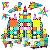 Jasonwell 108pcs Magnetic Blocks Kids Magnetic Tile Building Blocks Set 3D Magnet Bulding Tiles...