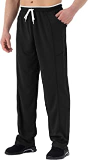TBMPOY Men's Sweatpants Open Bottom Loose Jogger Running Pants with Pocket
