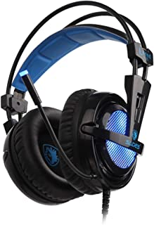 SADES RGB Gaming Headset -Locust Plus- 7.1 Surround Sound USB Input Plug Over-Ear Headphones with Noise Isolating Microphone and Adjustable Headband for PC Computer Gamers