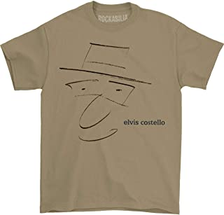 Elvis Costello Men's Drawing T-Shirt Brown