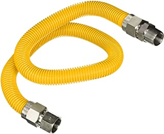 Flextron FTGC-YC14-72I 182 cm elastyczne złącze przewodu gazowego pokryte epoksydową o średnicy zewnętrznej 3/8 cala i złą...
