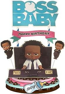 black baby boy cake topper