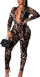 Women Two Piece Outfits Leopard Print Blazer and Bodycon Leggings Suits Clubwear Party Night