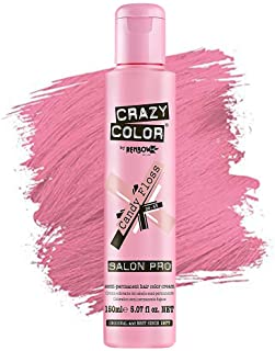 Crazy Color Hair Dye - Vegan Semi Permanent Hair Color - Temporary Dye for Blonde or Light Hair - [CANDY FLOSS] - 150ML 5....