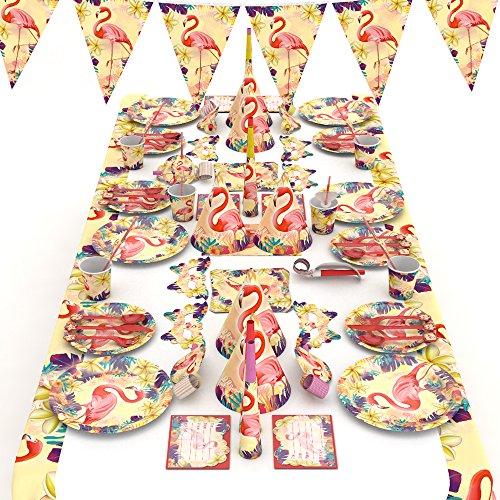 Oggettistica per la tavola per la Decorazione di Feste di Compleanno in 3 Diversi Disegni - 166 Pezzi per 10 Ospiti - Ghirlanda, Piatti, Tazze, tovaglioli e Posate (Style 2)