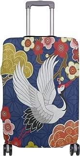 Luggage Cover Cherry Blossom Bird Sakura Japanese Travel Case Suitcase Bag Protector 3D Print Design