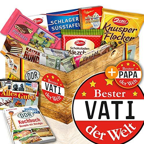 Bester Vati der Welt / DDR Korb Schokolade / tolles Geburtstagsgeschenk