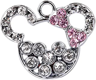 New Hot selling Cute Minnie Crystal Charm Pendant Wholesale (10 pcs) K73-B