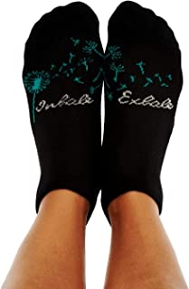 Toe Talk Inhale Exhale Mantra Novelty Socks, Inspirational Gift for a Woman